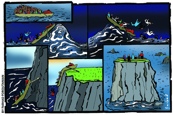 strip cartoon for Lampedusa in winter (1)